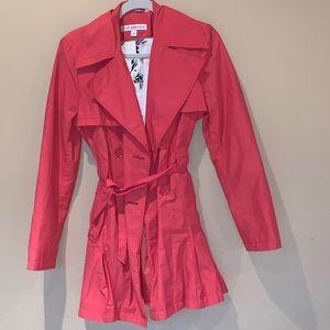 Via Spiga Pink Trench Coat. Small.
